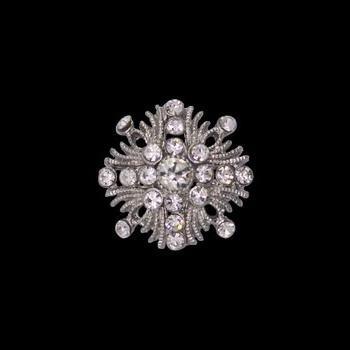 Boutons métal cristal   26mm