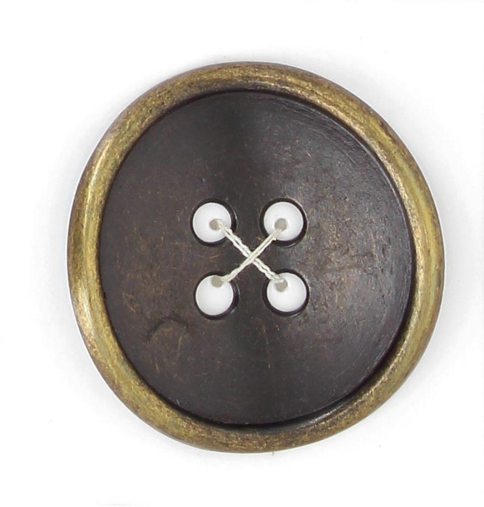 Boutons 4 trous métal bourrelet fin cintre 35mm à 50mm