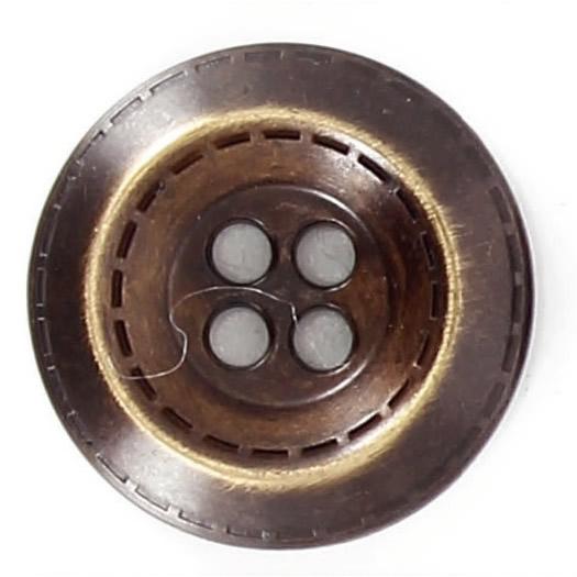 Bouton 4 trous métal cuvette point sellier 15mm à 27mm