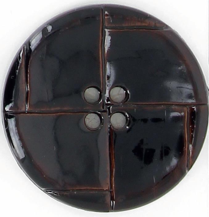 Bouton 4 trous imitation cuir  27mm à 40mm