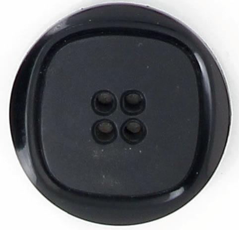 Boutons poly 4t carre centre mat noir 18mm à 30mm