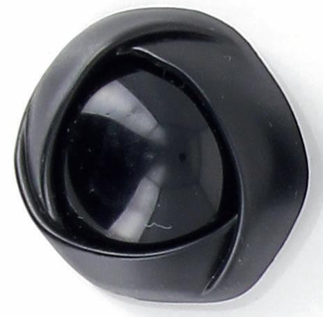Boutons à pied drape centre brillant noir 32mm à 25mm