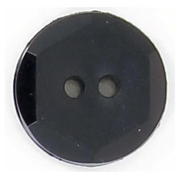 Bouton 2 trous mat facette brillante 18mm à 27mm
