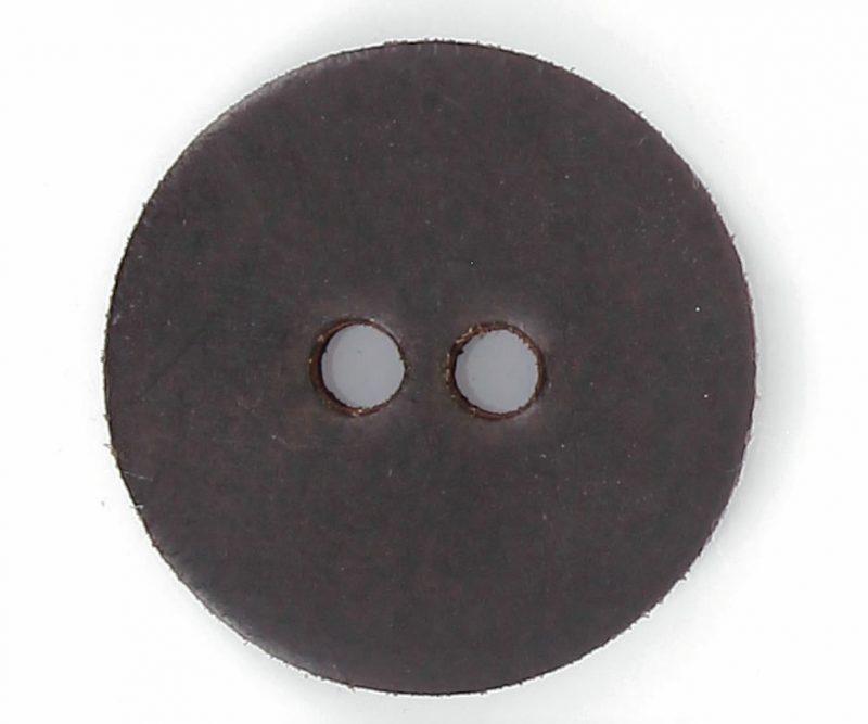 Bouton 2 trous pion cuir