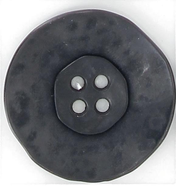 Bouton 4 trous métal cuvette martelée 18mm à 35mm