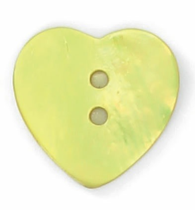 Bouton nacre cœur 12mm à 25mm