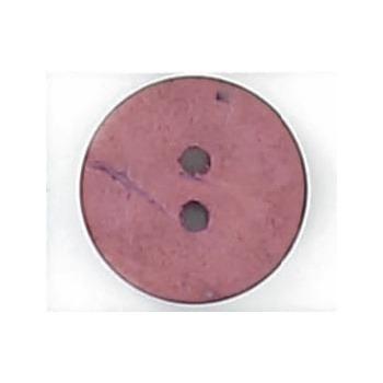 Bouton 2 trous coco teint 10mm à 25mm