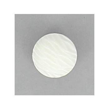 Boutons à pied demi boule blanc nacre strie. 12mm à 15mm