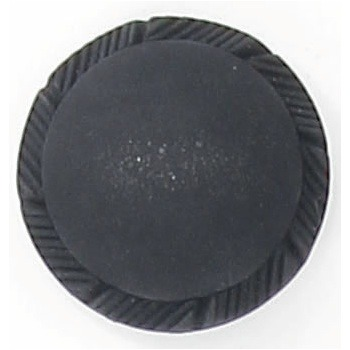 Bouton à pieds noir mat bord strie  15mm à 27mm
