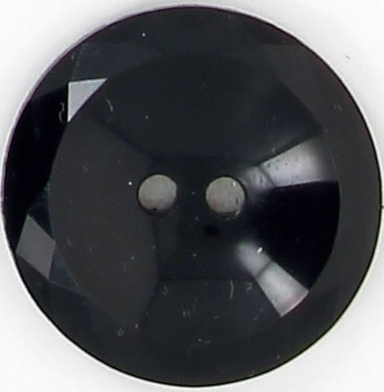 Boutons 2 trous cuvette noir a facette 10mm à 25mm