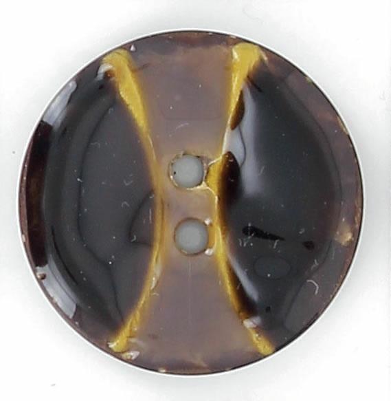 Bouton 2 trous coco laqué bicolor 25mm à 40mm