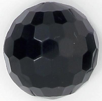 Boutons demi boule  à pied noir a facette  12mm à 25mm