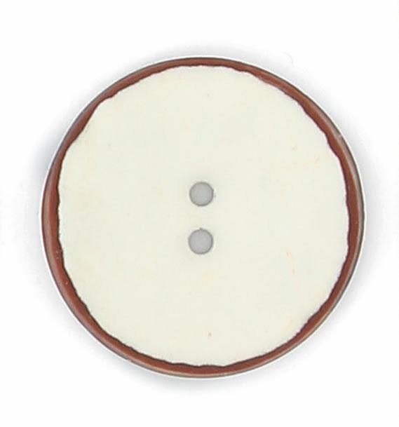 Bouton nacre pion vernis mat bord marron 12mm à 27mm