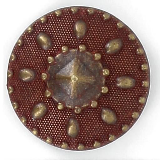 Bouton à pied pointe de diamant. 18mm à 27mm