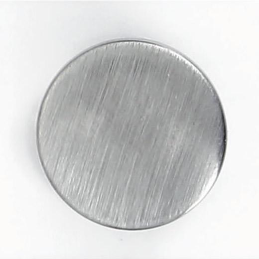 Bouton à pied métal pion brosse 15mm à 30mm