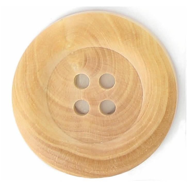 Boutons bois bourrelet 4 trous  15mm à 40mm