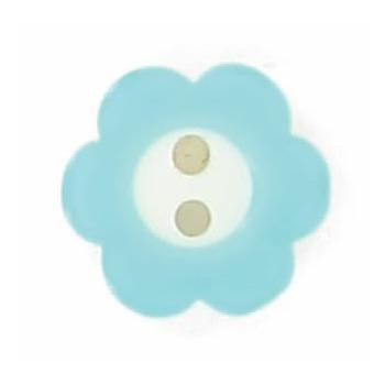 Bouton 2 trous fleur bicolore 12mm à 15mm