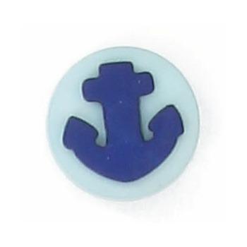 Boutons enfant ancre turquoise et marine  12mm