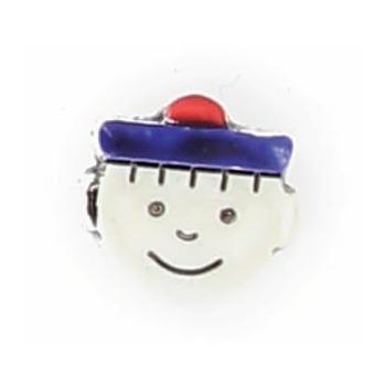 Boutons enfant tete de marin beret de couleur  12mm
