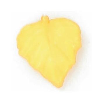 Boutons enfant feuille jaune  15mm