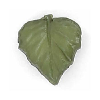 Boutons enfant feuille verte  15mm
