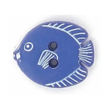 Boutons enfant poisson roy / blanc  15mm