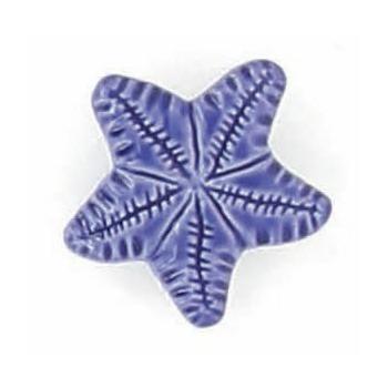 Boutons enfant etoile de mer bleu roy 15mm