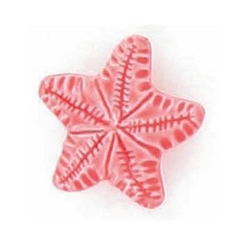 Boutons enfant etoile de mer corail 15mm