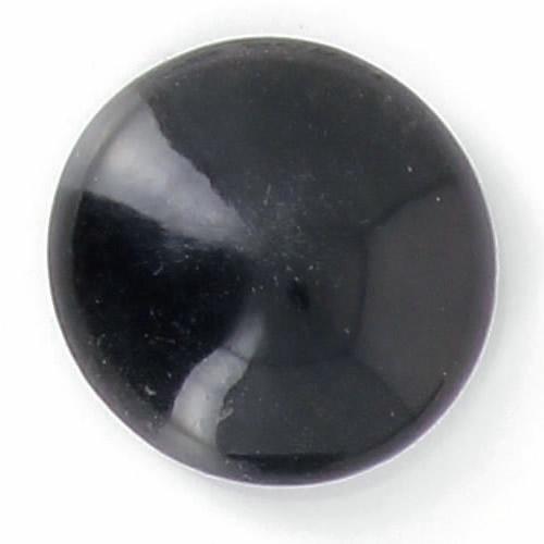 Bouton à pied corne ¼ boule noir 25mm à 50mm