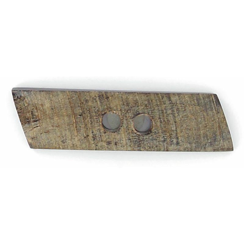 Bouton buchette 2 trous ½ bombe corne 55mm à 70mm